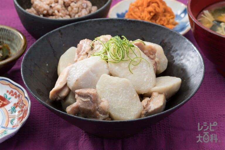 八幡芋と甲州地鶏の煮物