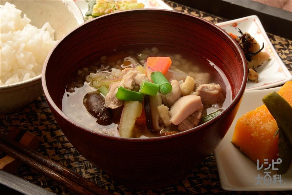 阿波のけんちん汁(鶏もも肉+こんにゃくを使ったレシピ)