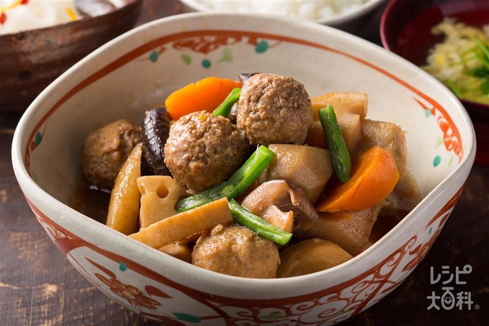 「はかた地どり」のつゆだくがめ煮(鶏ひき肉+里いもを使ったレシピ)