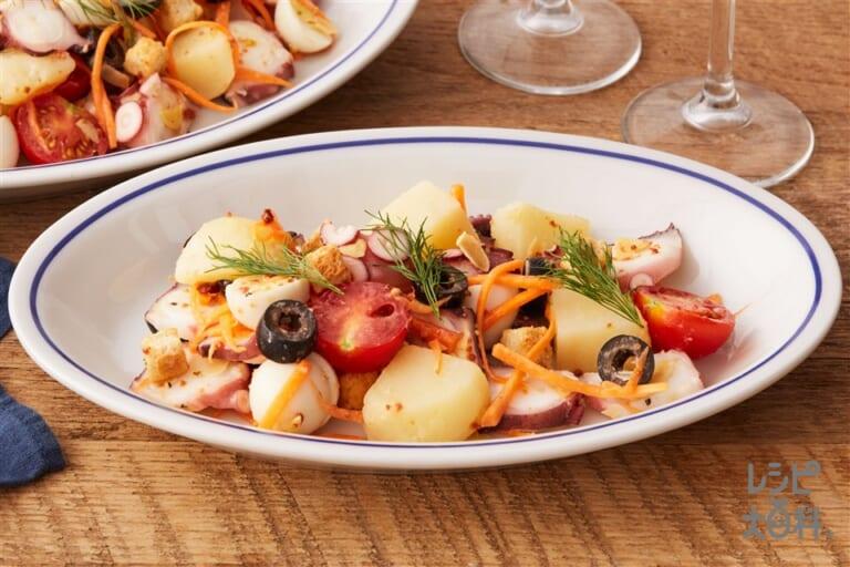 タコのワインバル風トスサラダ