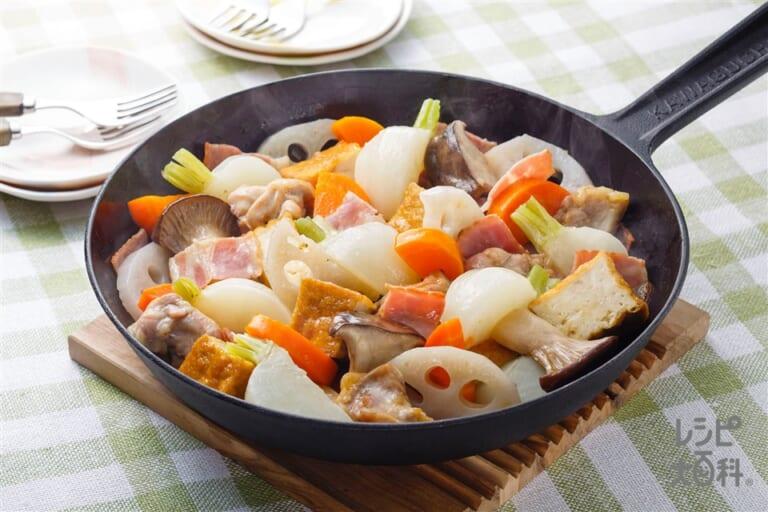 冬野菜のぎゅーぎゅー焼き