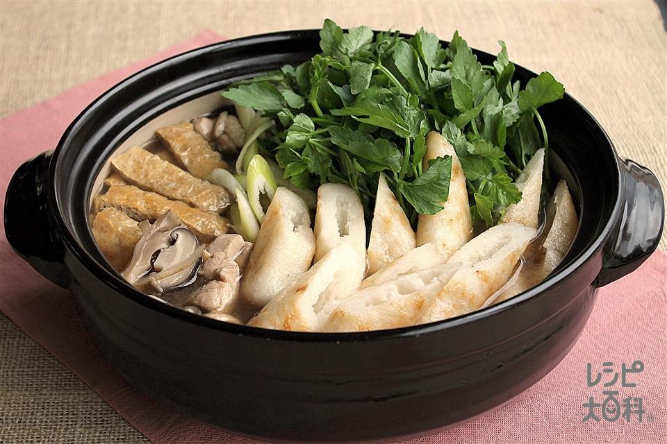 「鍋キューブ」できりたんぽ鍋(鶏もも肉+せりを使ったレシピ)