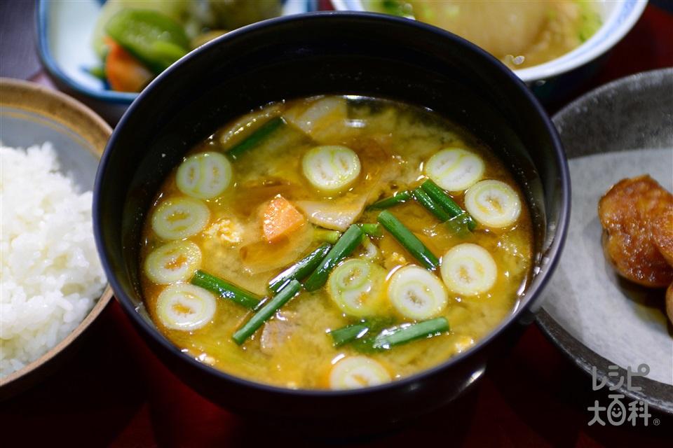 ピり辛けんちん汁(大根+白菜を使ったレシピ)