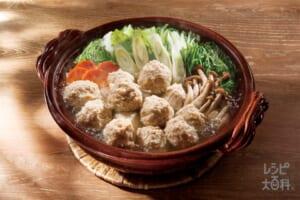 ふわふわ鶏だんご鍋(鶏ひき肉+白菜を使ったレシピ)