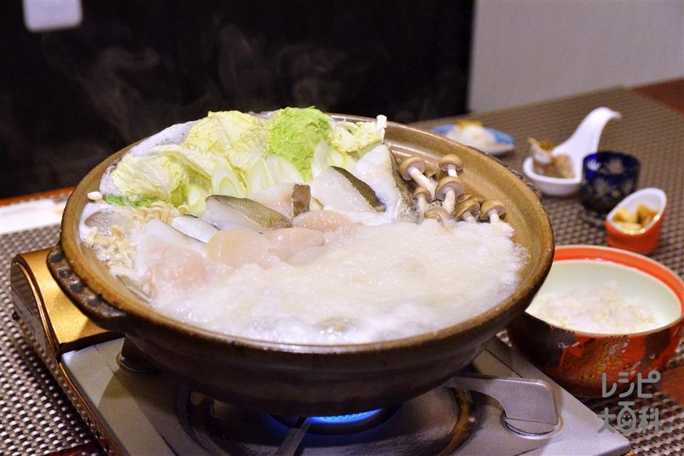 雪見鍋(白菜+帆立貝柱を使ったレシピ)