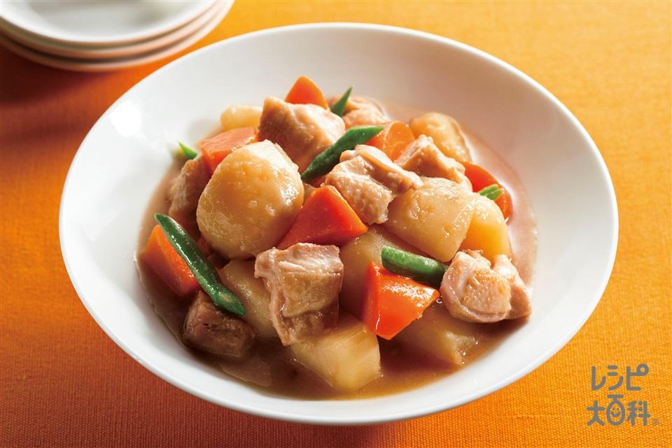 中華風 カンタン肉じゃが(じゃがいも+鶏もも肉を使ったレシピ)
