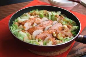 フライパンで鮭と長芋のちゃんちゃん焼き