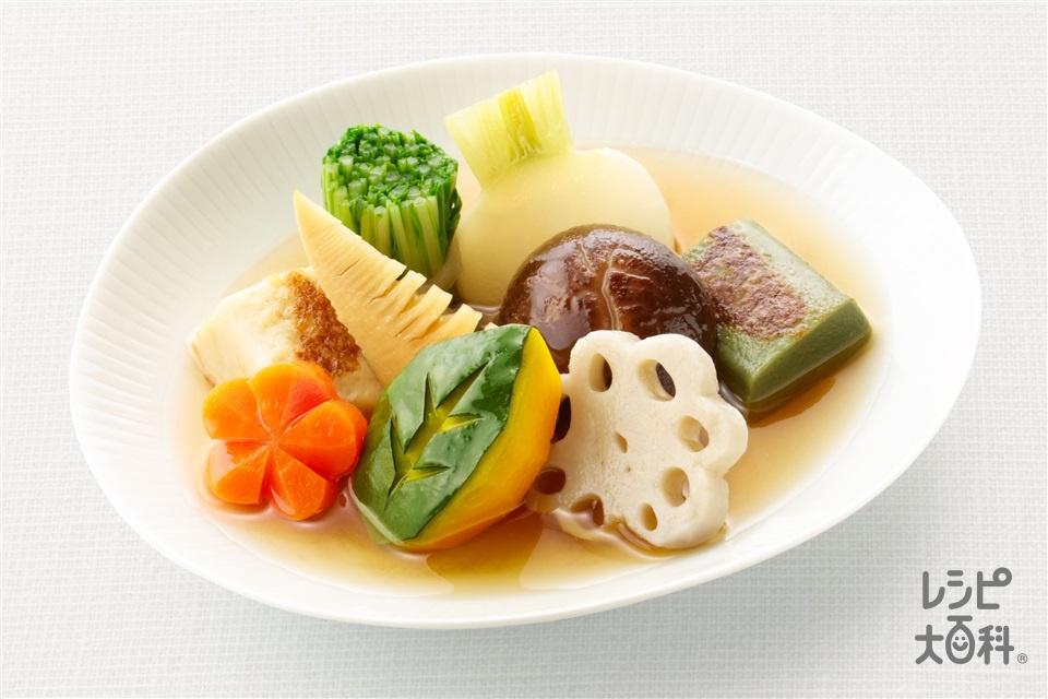 野菜の炊き合わせ(ゆでたけのこ+かぶを使ったレシピ)