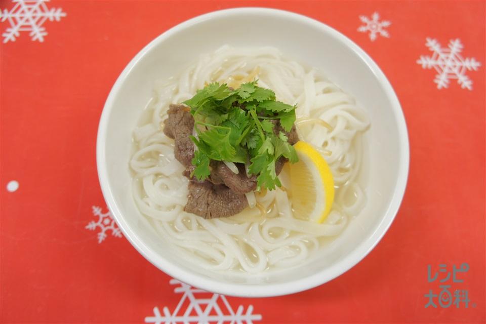 牛肉のフォー(フォー+牛もも薄切り肉を使ったレシピ)