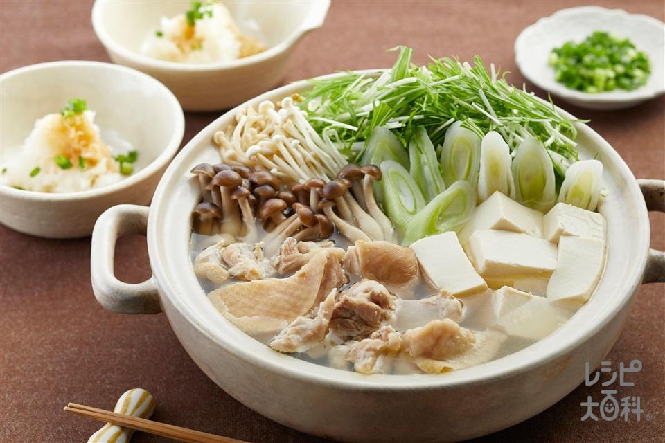 ≪塩分控えめ≫鶏のうま味が効いてる!水炊き(鶏もも肉+絹ごし豆腐を使ったレシピ)