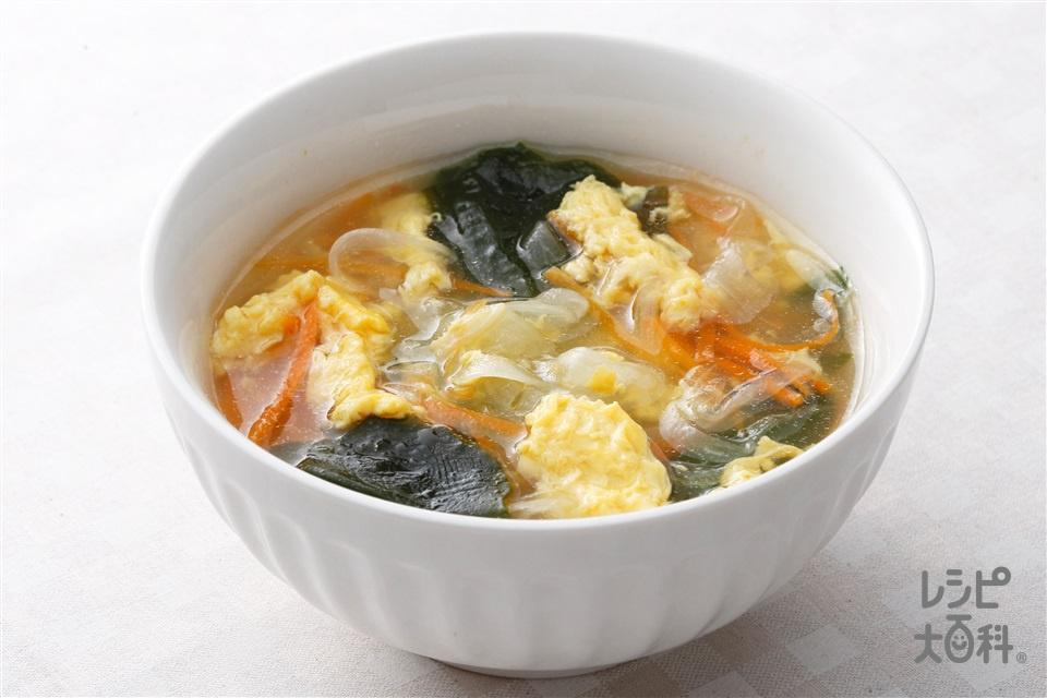 玉ねぎとにんじんの酢ープ(玉ねぎ+溶き卵を使ったレシピ)