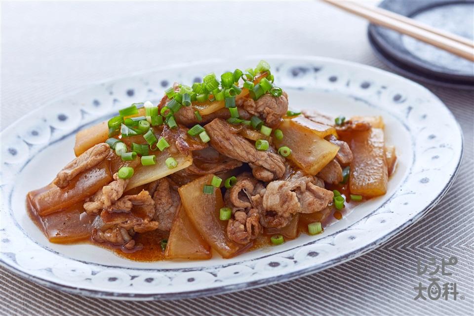 豚バラと大根のオイマヨ炒め(豚バラ薄切り肉+大根を使ったレシピ)