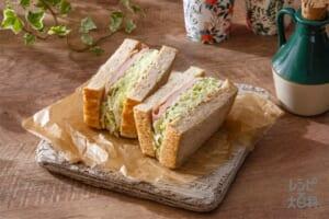 キャベツたっぷりハムチーズサンドイッチ