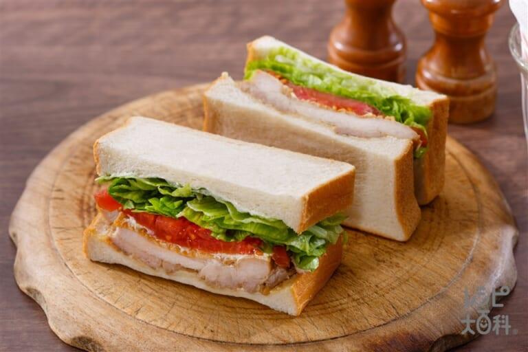 レタスたっぷり照り焼きチキンサンドイッチ
