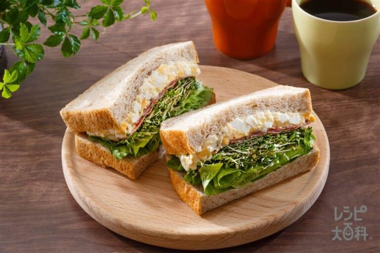 スプラウトたっぷりたまごサンドイッチ