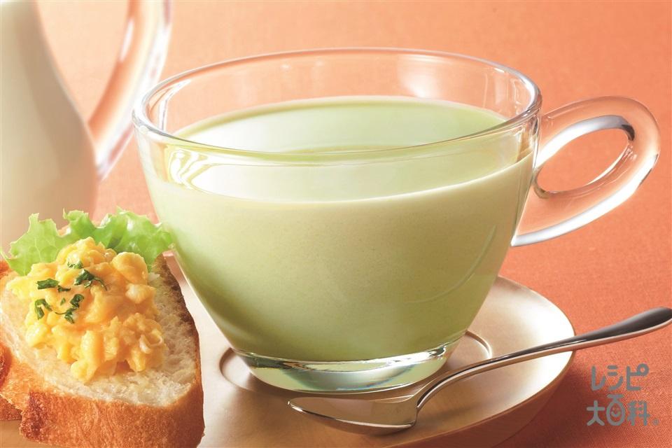 「クノール カップスープ」冷たい牛乳でつくる えだ豆のポタージュ