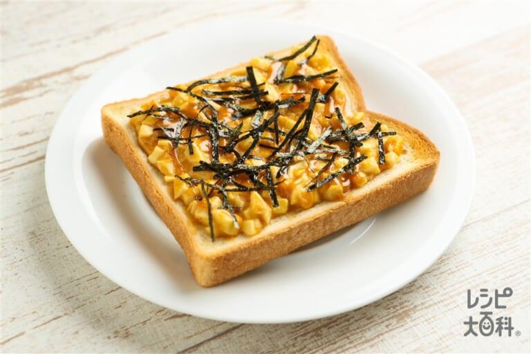 味噌マヨエッグトースト