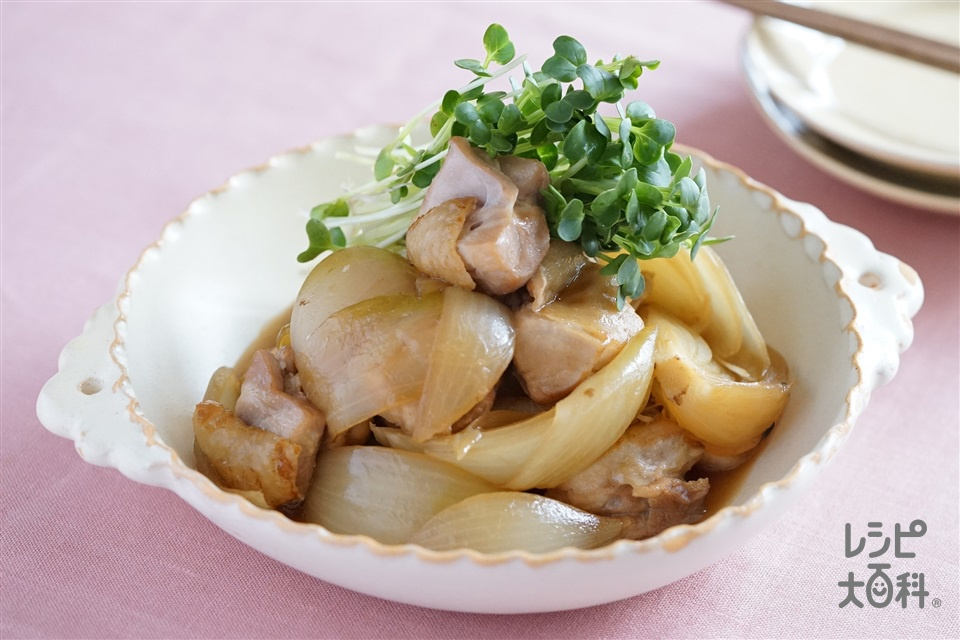 鶏肉と玉ねぎの甘辛煮(鶏もも肉+玉ねぎを使ったレシピ)