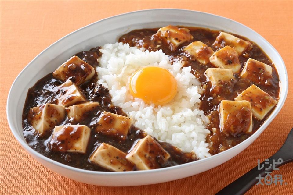 赤黒W麻婆丼 (絹ごし豆腐+ご飯を使ったレシピ)