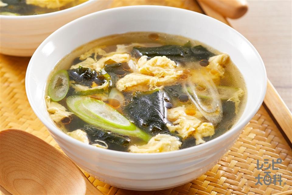 うま味たまごスープ(乾燥わかめ+溶き卵を使ったレシピ)