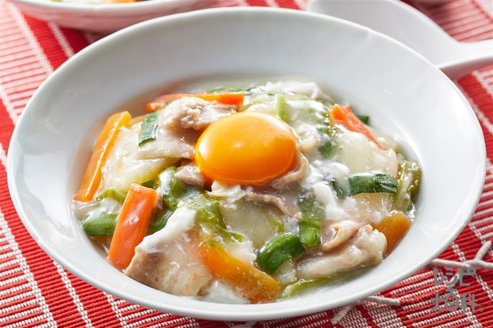 うま味あんかけ(豚バラ薄切り肉+白菜を使ったレシピ)