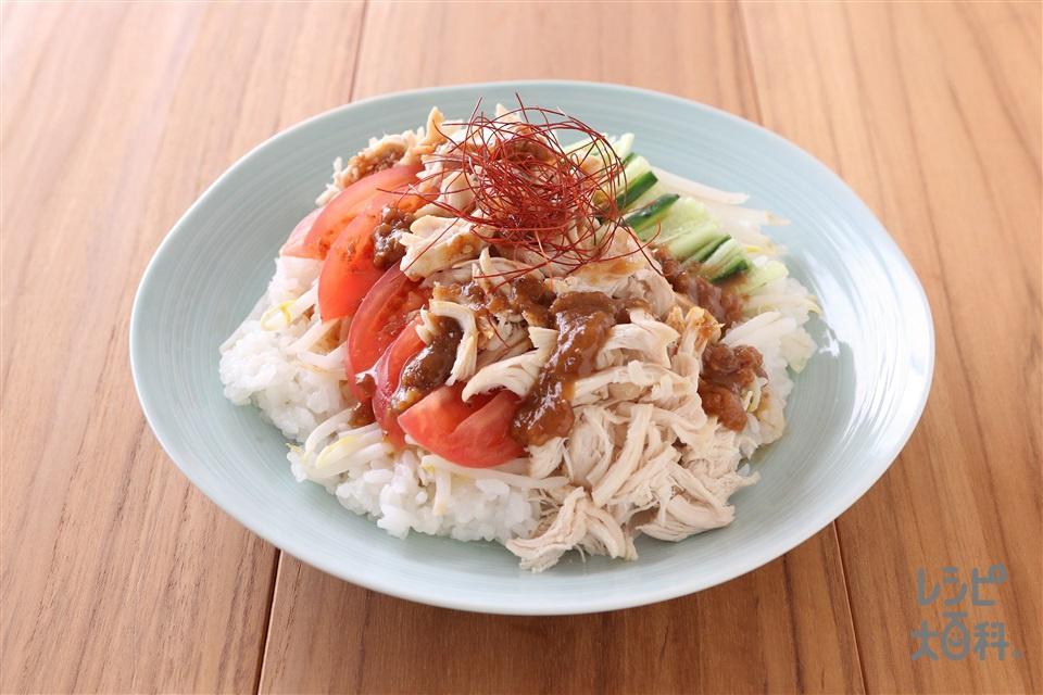 棒々鶏風炊き込みごはん(米+鶏ささ身を使ったレシピ)