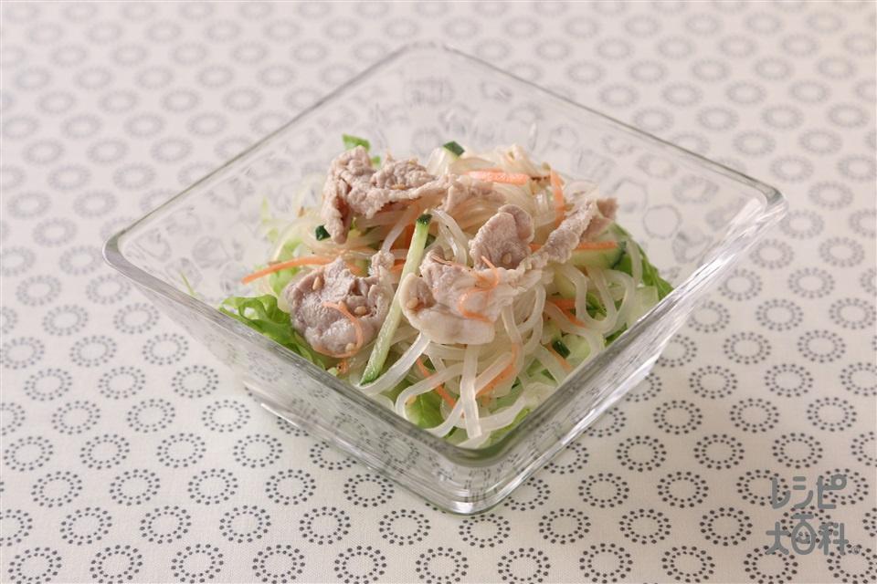 豚しゃぶと春雨の夏野菜サラダ