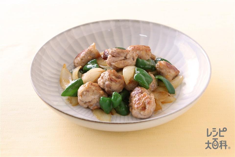 コロコロポーク炒め(豚こま切れ肉+酒を使ったレシピ)