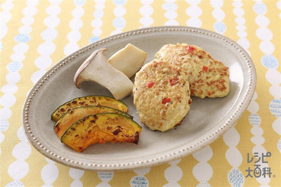 カレー風味つくね(鶏ひき肉+かぼちゃを使ったレシピ)