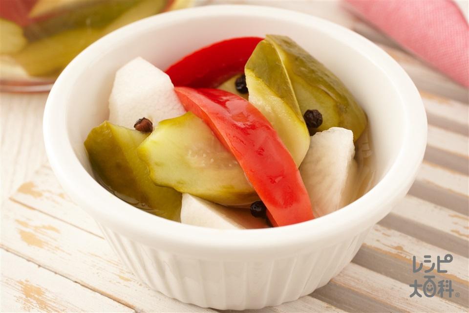 野菜のミックスピクルス(大根+きゅうりを使ったレシピ)