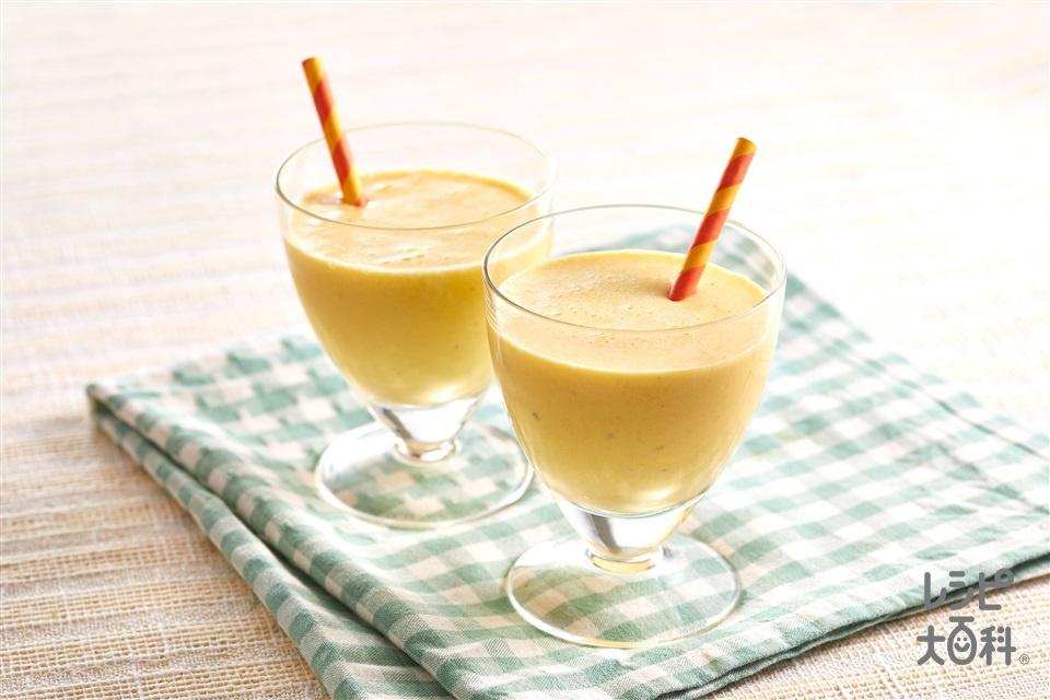 黄色いスムージー(バナナ+A牛乳を使ったレシピ)