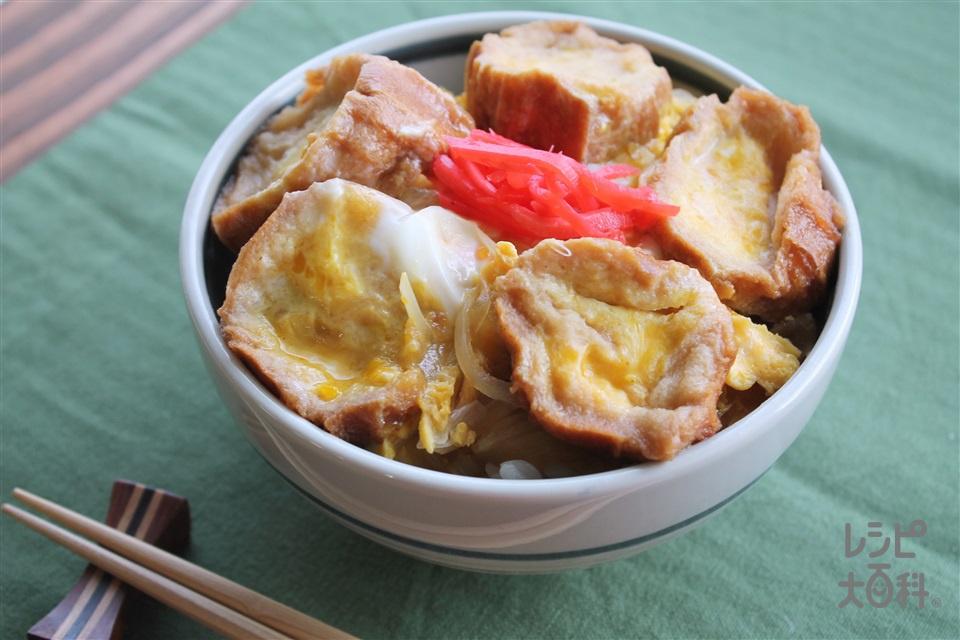 油麩丼(溶き卵+ご飯を使ったレシピ)