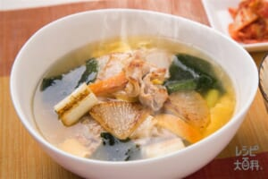 焼き野菜の香ばしスープ