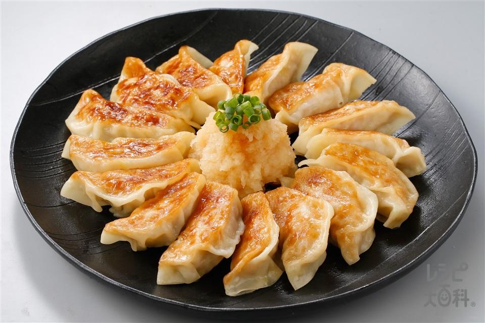 ねぎマヨ餃子~おろしぽん酢がけ~