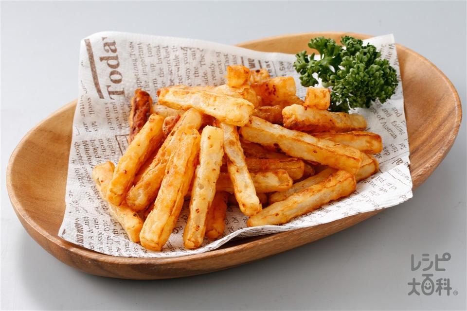 フライド大根(コンソメ風味)(大根+小麦粉を使ったレシピ)
