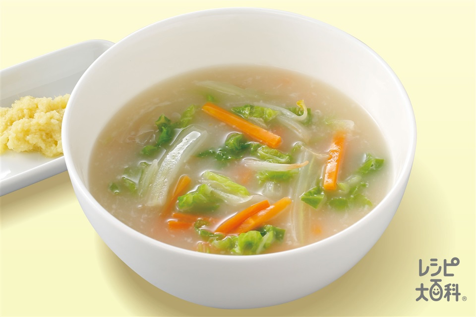 とろとろ白菜の白湯スープ(白菜+にんじんを使ったレシピ)