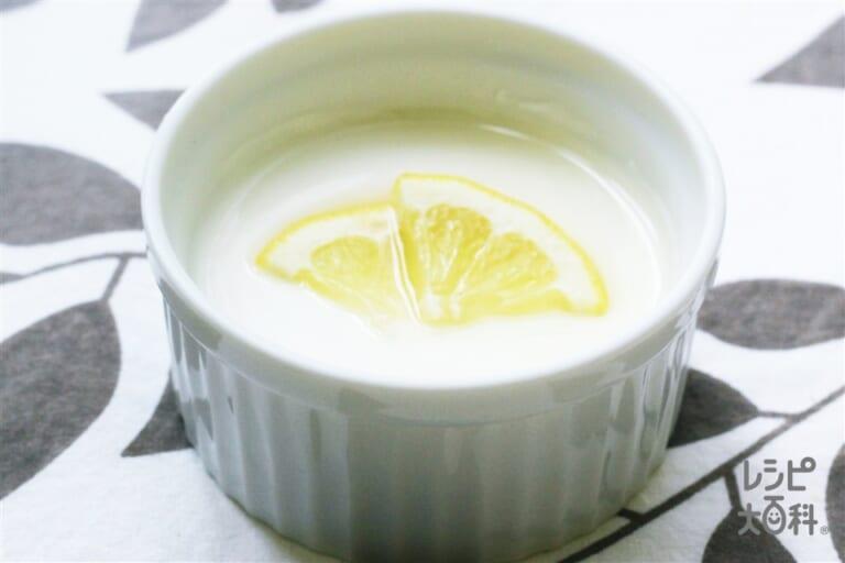 パンナコッタ レモンソース