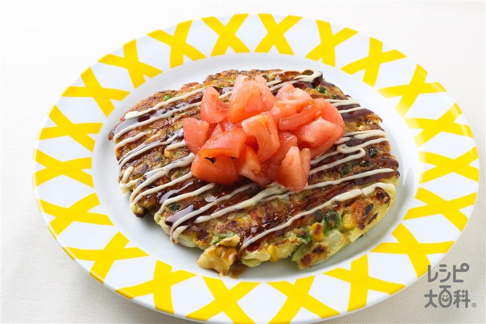 サラダお好み焼き(サラおこ)(キャベツ+トマトを使ったレシピ)