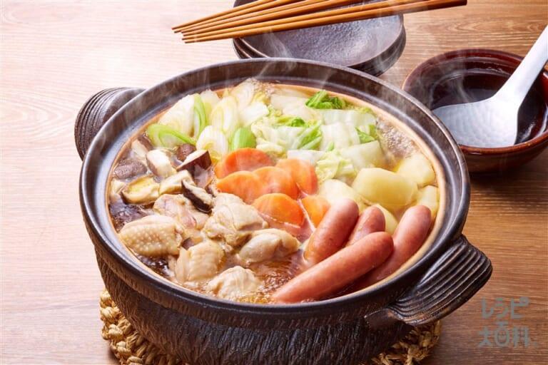鶏肉で作る「コクうま野菜だし鍋」