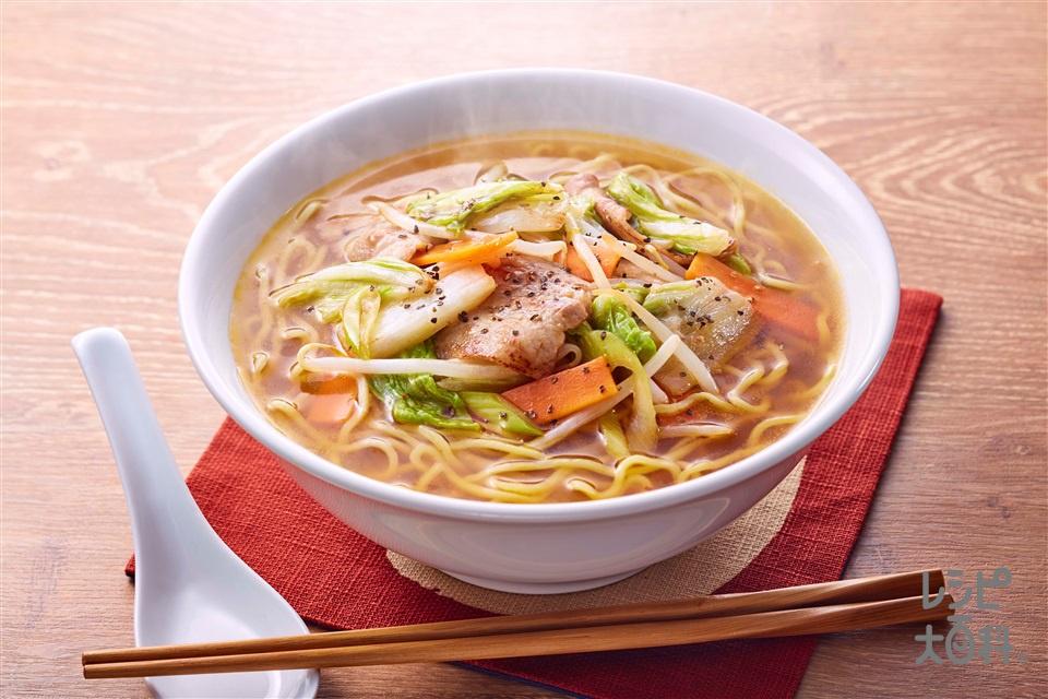 野菜だしタンメン(中華生めん+白菜を使ったレシピ)