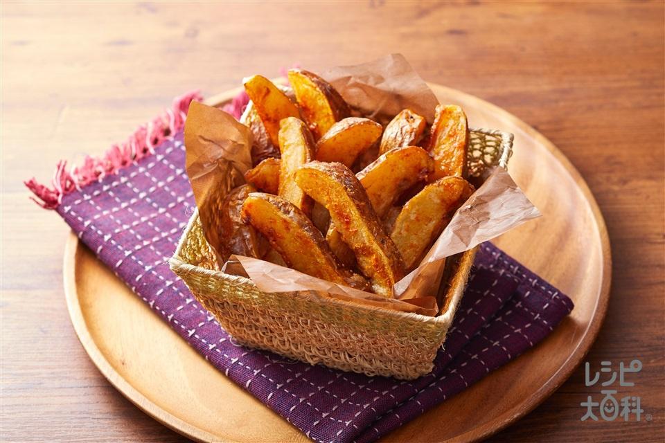 トムヤムフライドポテト(じゃがいも+「鍋キューブ」トムヤム味を使ったレシピ)