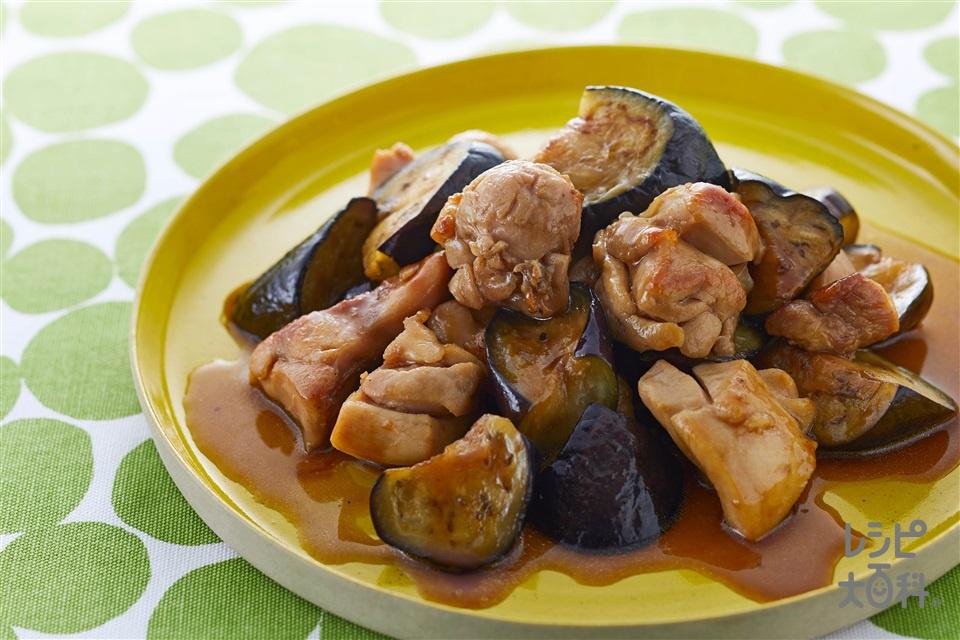 鶏肉となすのオイスー炒め(鶏もも肉+なすを使ったレシピ)