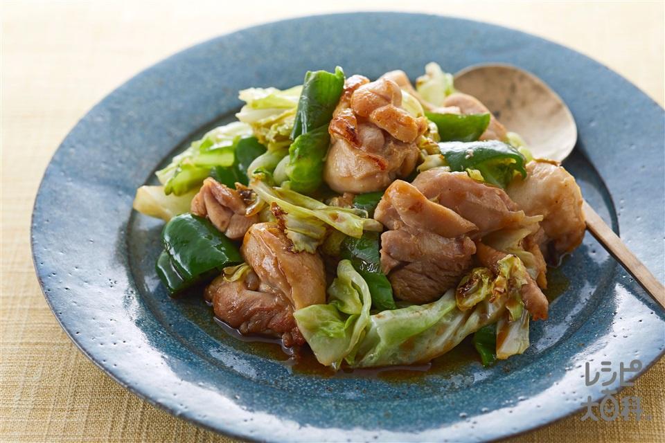 鶏肉ときゃべつのオイスー炒め(鶏もも肉+キャベツを使ったレシピ)