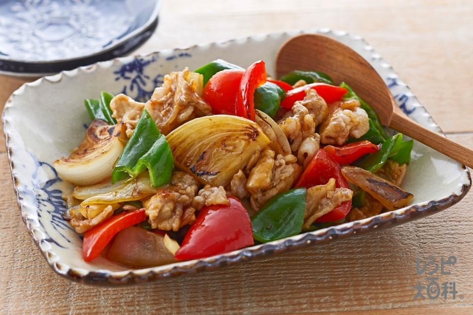 豚肉とピーマンのオイスー炒め(豚もも薄切り肉+片栗粉を使ったレシピ)