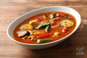 夏野菜の中華風スープカレー