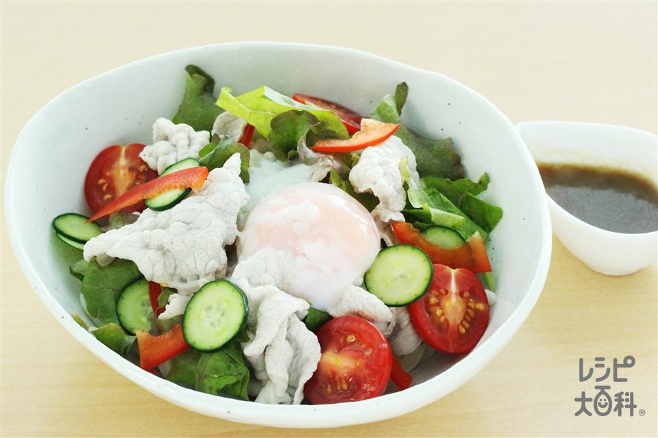 中華風サラダうどん(冷凍うどん+豚しゃぶしゃぶ用肉を使ったレシピ)