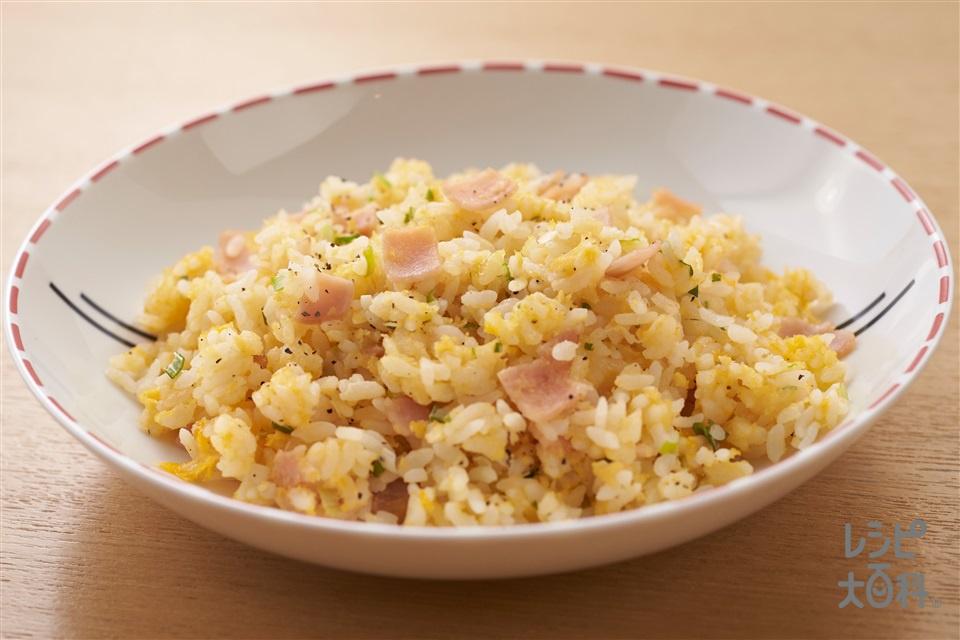 秒速 レンチン炒飯(ご飯+卵を使ったレシピ)