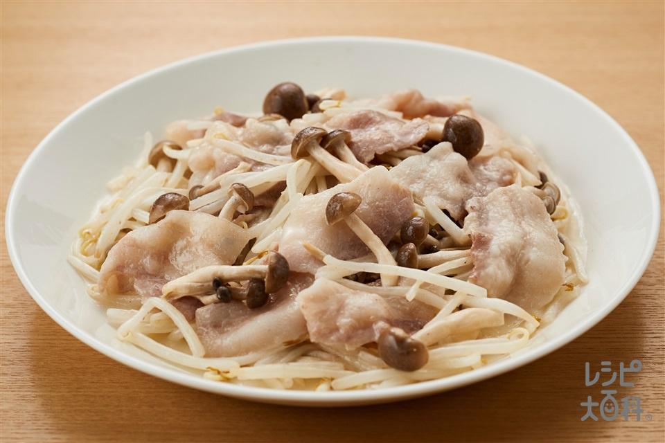 秒速 豚バラもやしめじ(豚バラ薄切り肉+もやしを使ったレシピ)
