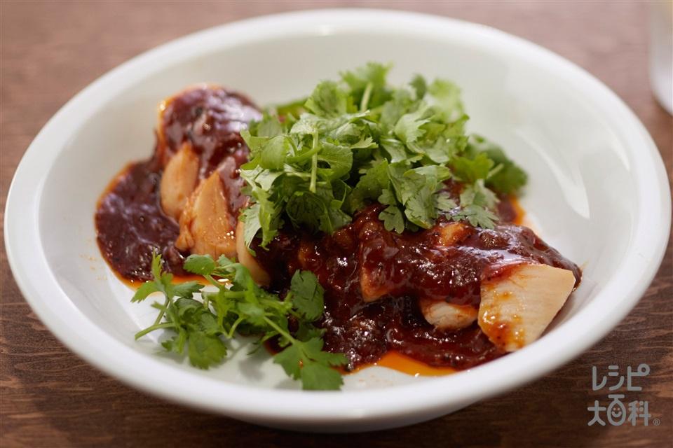 麻婆チキン(サラダチキン風鶏ハム+パクチーを使ったレシピ)