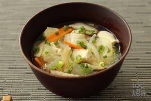 あごだしのけんちん汁風(木綿豆腐+玉ねぎを使ったレシピ)